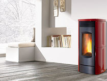 contemporary pellet wood stove (ceramic) CLASSIC SERIES Caminetti Montegrappa