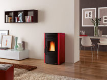 contemporary pellet wood stove (steel) DORINA Nordica