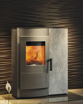 contemporary pellet wood stove (steel) INDUO  Rika