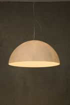 contemporary pendant lamp MEZZA LUNA 1 NEBULITE WHITE in-es artdesign