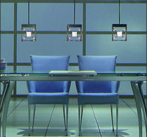 contemporary pendant lamp (halogen) KUBUS by Thomas Haagen Ruhrform