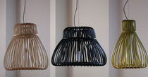 contemporary pendant lamp in rattan ORBITA SMALL by Tomoko Mizu Bonacina Vittorio