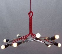 contemporary pendant lamp in reclaimed material CR 9 VELVET Wheels-on-Fire