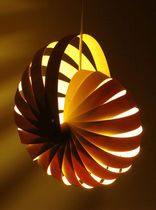 contemporary pendant lamp in recycled material (recyclable ) NAUTILUS by Rebecca Asquith rebecca asquith furniture object