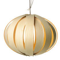 contemporary pendant lamp (wood) PUMPA by Kirsi Gullichsen original habitek works
