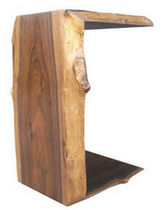 contemporary petrified wood side table CARLO Costantini Design