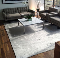 contemporary plain rug in vegetal silk (handmade) GRIFFE DE DIMORA