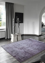 contemporary plain rug in vegetal silk (handmade) CAPRI DE DIMORA