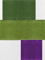 contemporary plain rug in wool (handmade) PIECES DE TOKYO By Second Studio