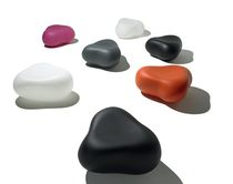 contemporary pouf PEBBLE by Karim Rashid Feek