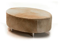 contemporary pouf OVAL COWHIDE Urban Cape
