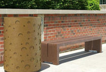 contemporary public bench in concrete WS-127 Wausau Select