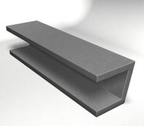 contemporary public bench in concrete WS-132 Wausau Select