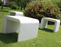 contemporary public bench in concrete AR PURO Grupo Amop Synergies