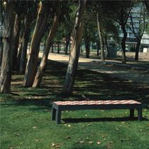 contemporary public bench in concrete CONFIGURATOR LUGARCOMUM (CONCRETE + TILES) Grupo Amop Synergies