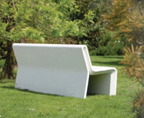 contemporary public bench in concrete (with backrest) AR PURO Grupo Amop Synergies