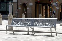 contemporary public bench in metal (with backrest) MONET Divers cité