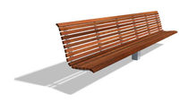 contemporary public bench in wood and concrete (with backrest) BEIRAMAR 4,00 M by Vázquez Consuegra, G DAE