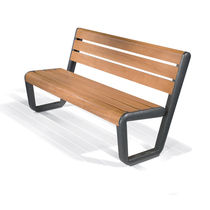 contemporary public bench in wood and metal (with backrest) ECO BENCH WOOD LAB23