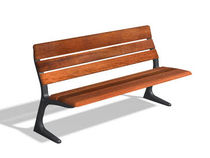 contemporary public bench in wood and metal (with backrest) ANA 1,50 M by Mil&Atilde;&iexcl;, Leopoldo  DAE