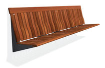 contemporary public bench in wood and metal (with backrest) KORO APLIQUE 2,60 M by Mangado, Patxi  DAE