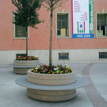 contemporary public bench with integrated planter ONICE by Staubach &amp; Kuckertz METALCO