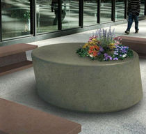 contemporary public bench with integrated planter WS-115 Wausau Select