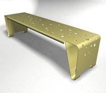 contemporary public bench in metal WS-202 Wausau Select