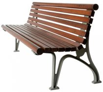 contemporary public bench in wood and metal (with backrest) RAMPANT GLS Prefabricados