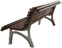 contemporary public bench in wood and metal (with backrest) PLAZA REAL  GLS Prefabricados