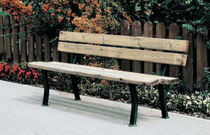 contemporary public bench in wood and metal (with backrest) MIZAR OSE LOISIRS
