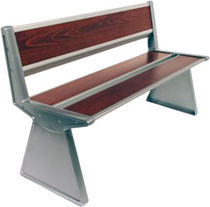 contemporary public bench in wood and metal (with backrest) WGB60 Peter Pepper  Products