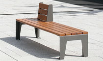 contemporary public bench in wood and metal (with backrest, modular) MODUS ACCENTURBA