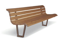 contemporary public bench in wood (with backrest) ALBA AUBRILAM