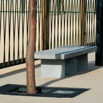 contemporary public bench in concrete and steel ATRIUM AREA