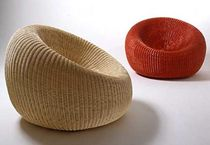 contemporary rattan armchair PALLA by Giovanni Travasa Bonacina Vittorio