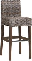 contemporary rattan bar stool 686G KOK MAISON