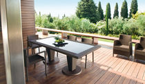 contemporary rattan chair and table set for garden ST TROPEZ Roberti Rattan