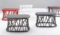 contemporary rattan coffee table TRACCIA COFFEE by Francesco Bettoni Bonacina Vittorio