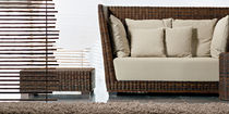 contemporary rattan coffee table BLACK 14 by Paola Navone GERVASONI - Contract Division