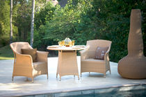 contemporary rattan garden round table (recyclable)  Outdoor Comforts