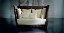 contemporary rattan sofa BLACK 02  by Paola Navone GERVASONI - Contract Division