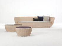 contemporary rattan sofa FRUITBOWL by Hiroomi Tahara Yamakawa Rattan Japan Inc.