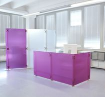 contemporary reception desk  FLUOWALL MAGENTA PAXTON