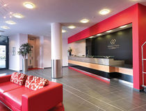 contemporary reception desk DOUBLETREE BY HILTON AT STADIUM MK Clarke Rendall