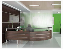 contemporary reception desk IVA MSL Interiors Ltd