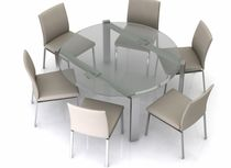 contemporary round extending glass table ECLIPSE ROUND EXTENDING Swanky Design - Premium Contemporary Furniture