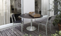 contemporary round garden table (metal) DACTYLON by Tito Agnoli  Ycami