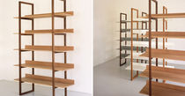 contemporary shelf in certified wood (FSC-certified) SINGER SHELVES 2 by Russell Pinch BENCHMARK