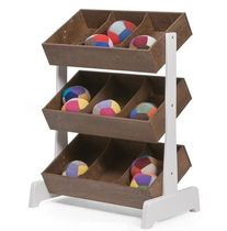 contemporary shelf in certified wood (FSC-certified) TOY STORE WALNUT Oeuf